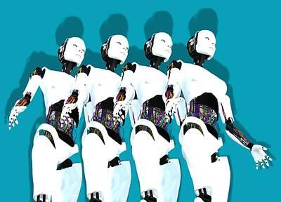 Humanoid Robots, Artwork Print by Victor Habbick Visions