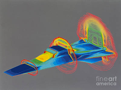 Hyperx Hypersonic Aircraft Print by Science Source