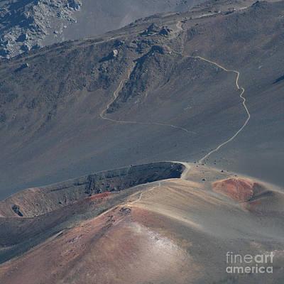 Crater Digital Art - Ka Lua O Ka Oo Haleakala Volcano Maui Hawaii by Sharon Mau