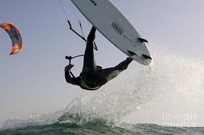 Kitesurfing Board Print by Hagai Nativ