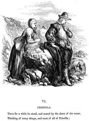 Longfellow: Standish, 1859 Print by Granger