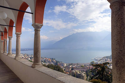 Outlook Photograph - Madonna Del Sasso - Locarno by Joana Kruse