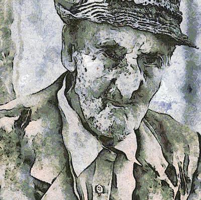 Cobwebs Painting - Man Portrait by Odon Czintos