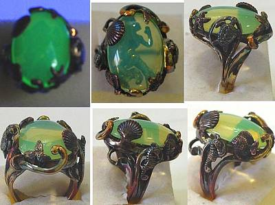 Vaseline Glass Jewelry - Mermaid's Kiss by Michelle  Robison