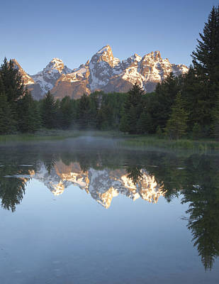 Mountain Reflection Print featuring the photograph Mountain Reflections by Andrew Soundarajan