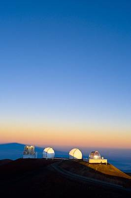 Mauna Kea Photograph - Observatories On Summit Of Mauna Kea by David Nunuk