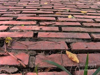 Old Red Brick Road Print by Yali Shi