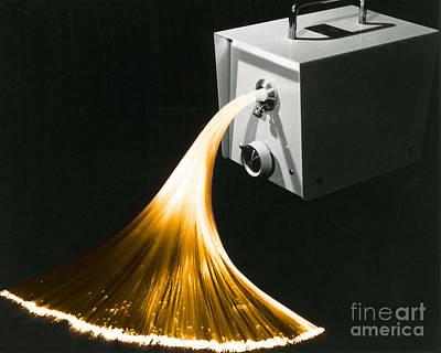 Fiber Glass Photograph - Optical Fibers by Omikron
