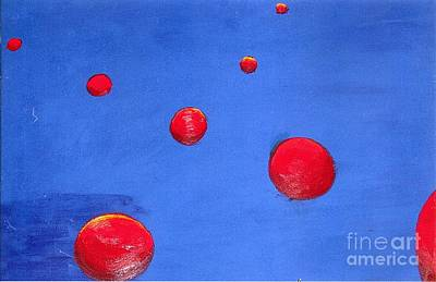 Painting - Orbs In Space 1 -- Crossing Paths by Rod Ismay