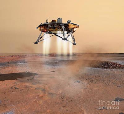 Phoenix Mars Lander Print by Stocktrek Images