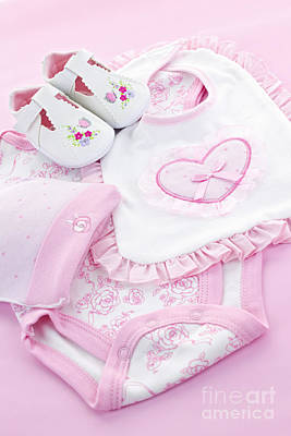 Booty Photograph - Pink Baby Clothes For Infant Girl by Elena Elisseeva