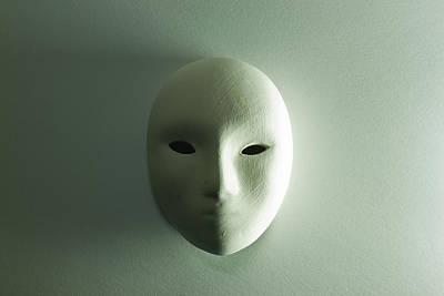 Plaster Mask In Studio Print by Kantapong Phatichowwat