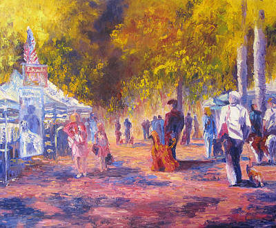Promenade Print by Terry  Chacon
