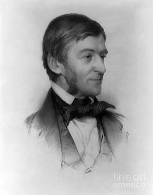 Ralph Waldo Emerson, American Author Print by Photo Researchers