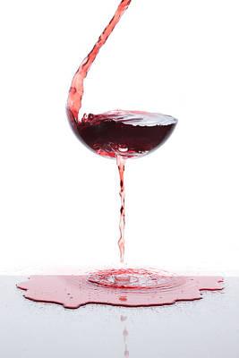 Red Wine Print by Floriana Barbu