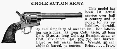 Revolver, 19th Century Print by Granger