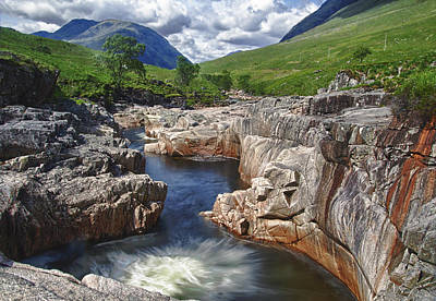 River Etive Print by Fiona Messenger
