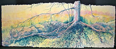 Tree Roots Painting - Rooted In Time by Carolyn Rosenberger
