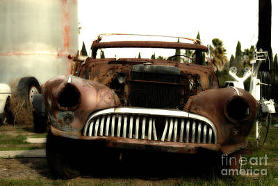 Rusty Old American Car . 7d10343 Print by Wingsdomain Art and Photography