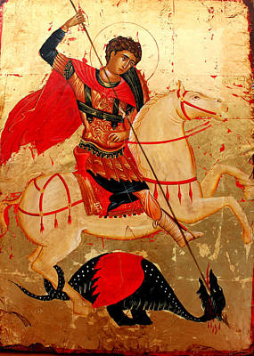 Egg Tempera Painting - Saint George by Artur Sula