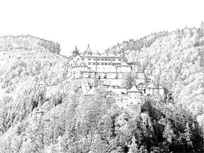 Schloss Hohenwerfen Werfen Austria Print by Joseph Hendrix