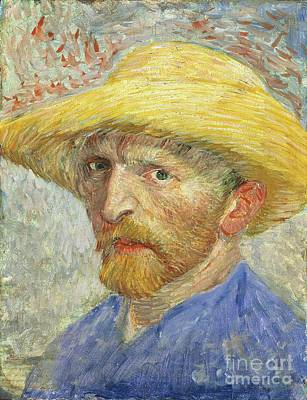 Anxious Painting - Self Portrait by Vincent van Gogh