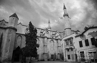 Selimiye Mosque Formerly Saint Sophia Cathedral Nicosia Lefkosia Trnc Turkish Cyprus Print by Joe Fox