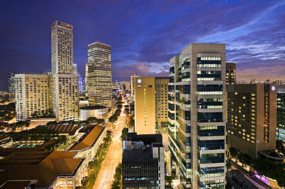 City Photograph - Singapore Cityscape by Ng Hock How