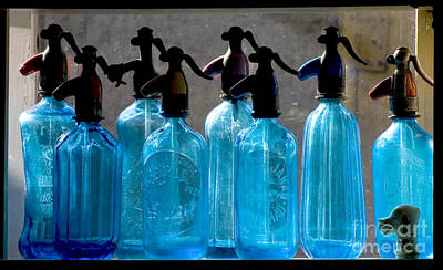 Stone Trough Photograph - Soda Bottles by Odon Czintos