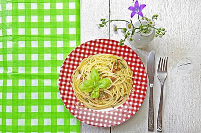 Spaghetti Al Pesto Print by Joana Kruse