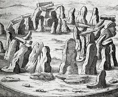 Megalith Photograph - Stonehenge, 17th Century Artwork by Middle Temple Library