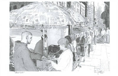 Street Eats Print by Larry Oldham