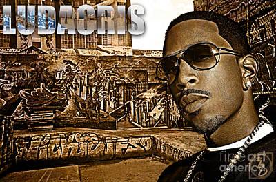 Rap Digital Art - Street Phenomenon Ludacris by The DigArtisT