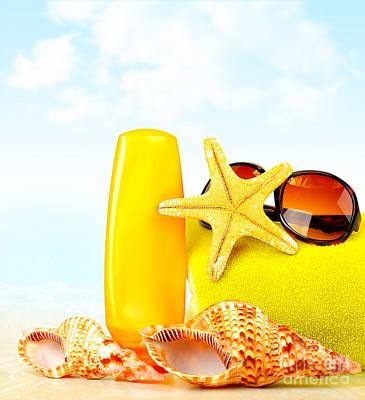 Summertime Holidays Background Print by Anna Omelchenko