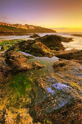 Sunset By The Ocean Print by Jaroslaw Grudzinski