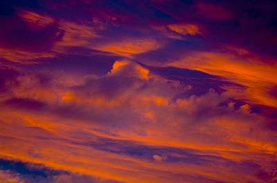 Background And Textures Photograph - Sunset Cloud Detail by Corey Hochachka