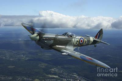 Spitfire Photograph - Supermarine Spitfire Mk.xvi Fighter by Daniel Karlsson