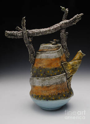 Sculpture - Teapot by Mark Chuck