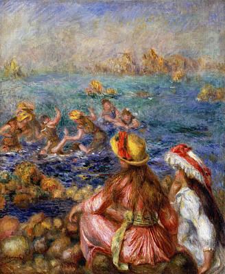 The Bathers Print by Pierre Auguste Renoir