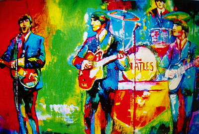 The Beatles Print by Leland Castro