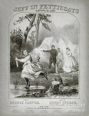 The Capture Of Jefferson Davis, 1865 Print by Photo Researchers