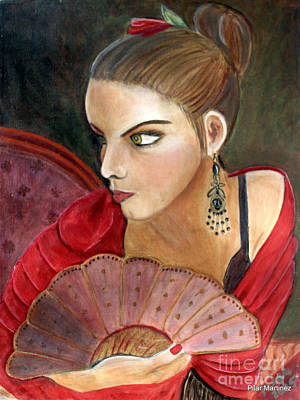 The Flamenco Dancer Print by Pilar  Martinez-Byrne