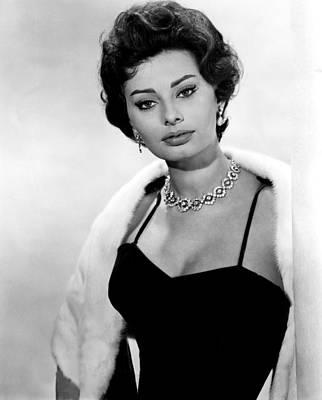 Diamond Necklace Photograph - The Key, Sophia Loren, 1958 by Everett