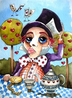 Hatter Painting - The Mad Hatter by Lucia Stewart