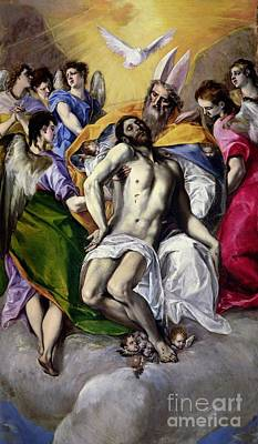 Heavenwards Painting - The Trinity by El Greco