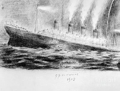 Titanic Sinking, 1912 Print by Granger