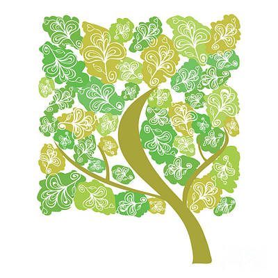 Lush Digital Art - Tree by HD Connelly