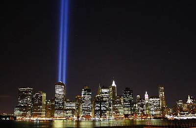 Skyline Photograph - Tribute In Light 2010 by Christopher Kirby