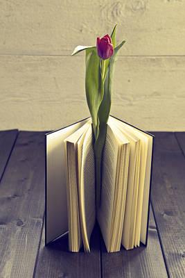 Tulip In A Book Print by Joana Kruse