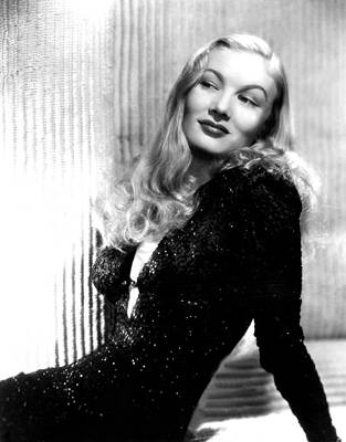 Evening Gown Photograph - Veronica Lake, Portrait by Everett